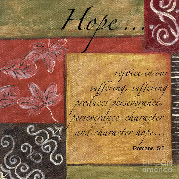 Motivational Painting - Words To Live By Hope by Debbie DeWitt