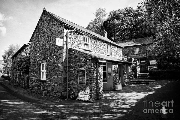 Grasmere Wall Art - Photograph - Wordsworth Museum And Traditional Lake Stone Slate Built Cottages In The Hamlet Of Town End Near Gra by Joe Fox
