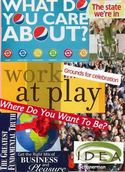 Mixed Media - Work At Play by Susan Schanerman