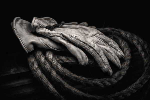 Gloves Photograph - Work Gloves Still Life by Tom Mc Nemar
