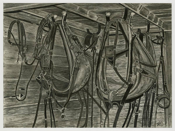 Wall Art - Drawing - Work Harness by Bryan Baumeister