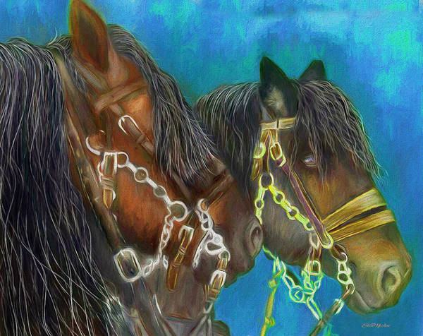 Painting - Work Horses 460 - Painting by Ericamaxine Price