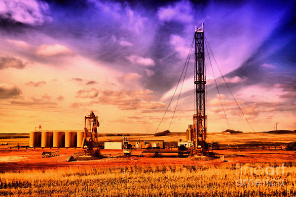Wall Art - Photograph - Work Over Rig In N Dakota by Jeff Swan