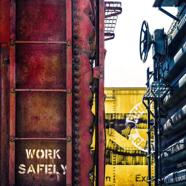 Primary Colors Photograph - Work Safely by Humboldt Street