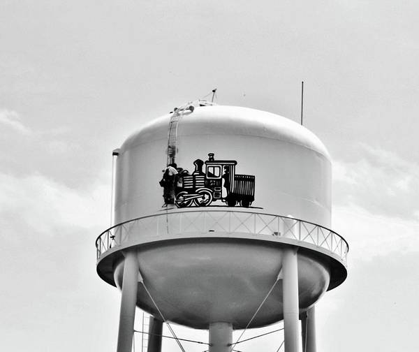 Photograph - Worker On Tower by Cynthia Guinn
