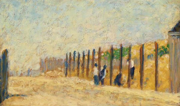 Painting - Workers Driving Piles by Georges Seurat