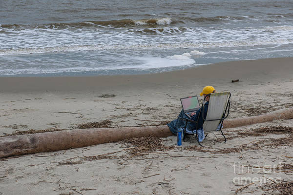 Photograph - Working At The Beach by Dale Powell