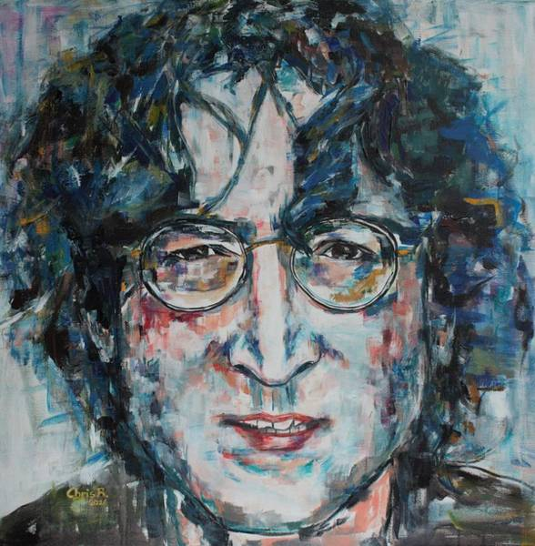 Painting - Working Class Hero Lennon by Christel Roelandt
