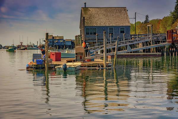 Wall Art - Photograph - Working On The Dock by Rick Berk