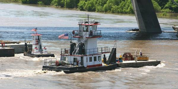 Photograph - Working The Missouri Barge Tenders by David Dunham