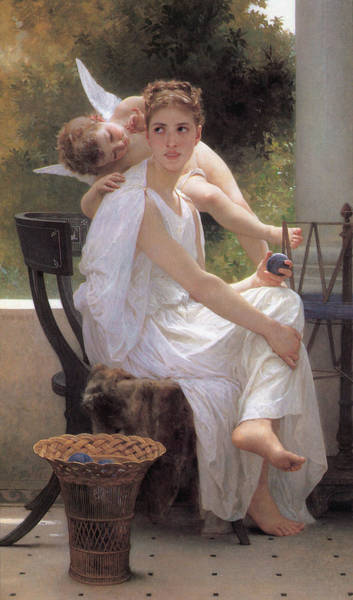 Perfect Body Painting - Work_interrupted by Adolphe William Bouguereau