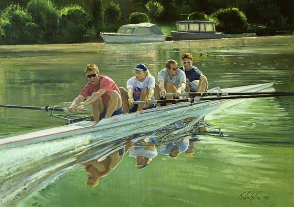 Rowing Wall Art - Painting - World Champions by Timothy Easton