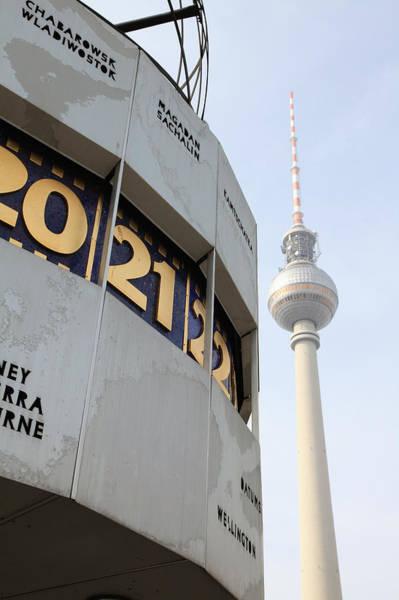 World Clock Tv Tower In Berlin Art Print
