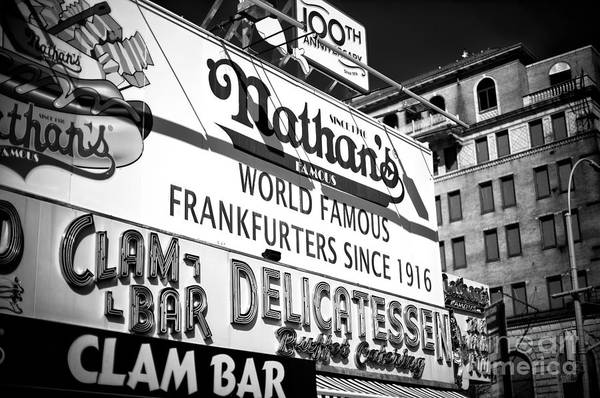 Wall Art - Photograph - World Famous Nathan's by John Rizzuto