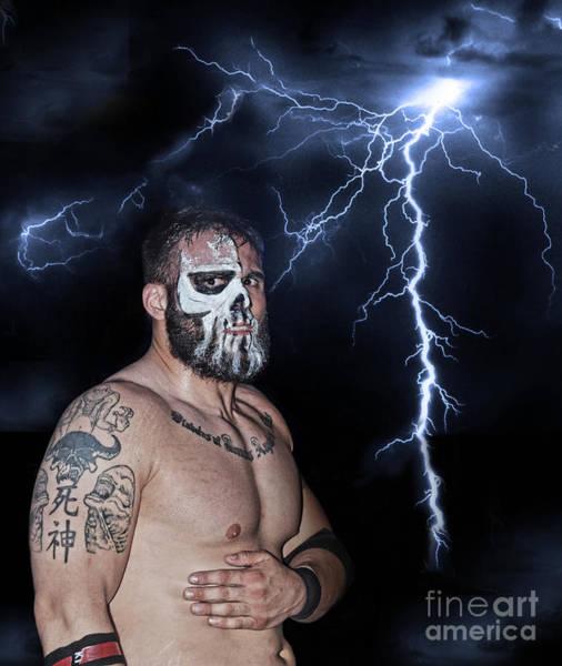 Pro Wrestler Wall Art - Photograph - Pro Wrestling Star Joe Graves by Jim Fitzpatrick