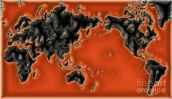 Wall Art - Digital Art - World Impressions - Global Warming by Kaye Menner