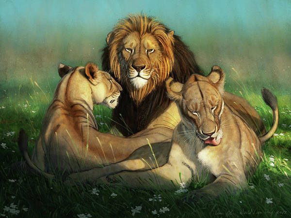 Wall Art - Digital Art - World Lion Day by Aaron Blaise