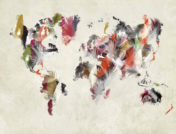 Wall Art - Painting - World Map  by Bri Buckley