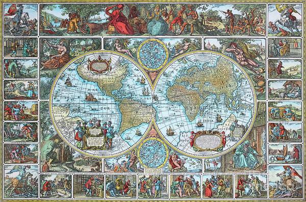 Photograph - World Map by Jutta Maria Pusl