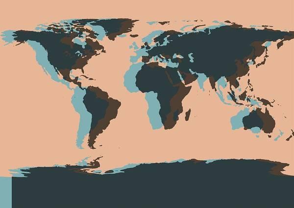 Iceland Digital Art - World Map Pop Art by Dan Sproul