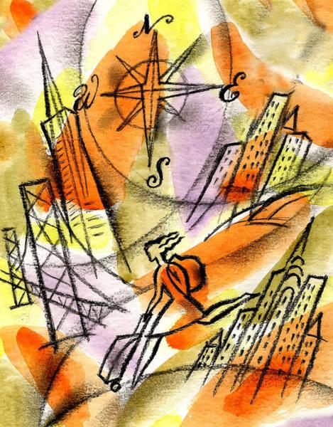 Wall Art - Painting - World Od Travel by Leon Zernitsky