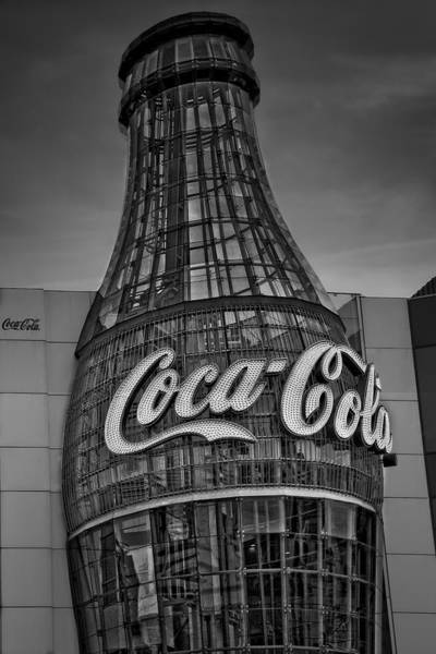 Photograph - World Of Coca Cola Bw by Susan Candelario