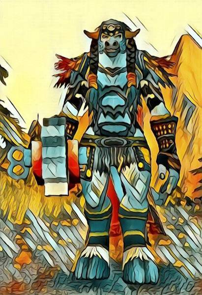 World Of Warcraft Wall Art - Digital Art - World Of Warcraft Druid Tauren by Artful Oasis