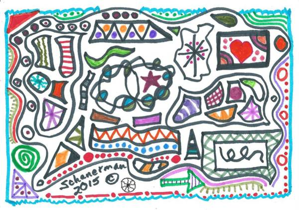 Drawing - World Of Wonder by Susan Schanerman