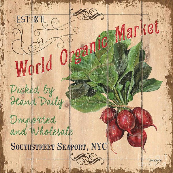 Beet Wall Art - Painting - World Organic Market by Debbie DeWitt