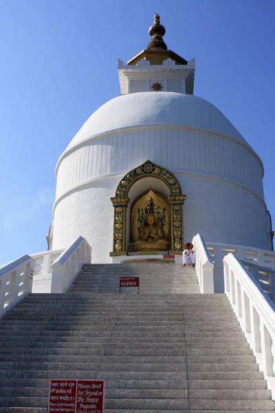 Photograph - World Peace Pagoda, Nepal by Aidan Moran