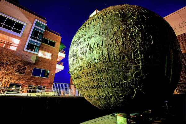 Photograph - World Peace Prayer Sphere - Fayetteville Arkansas by Gregory Ballos