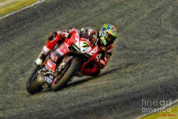 Photograph - World Superbike Chaz Davies Ducati  by Blake Richards