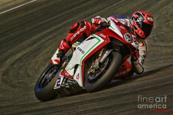 Photograph - World Superbike Leon Camier by Blake Richards