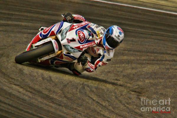 Photograph - World Superbike Sylvain Guintoli Honda by Blake Richards