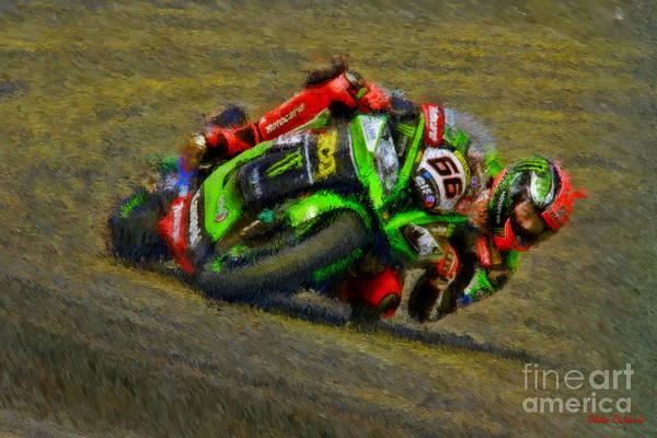 Photograph - World Superbike Tom Sykes Kawasaki  by Blake Richards