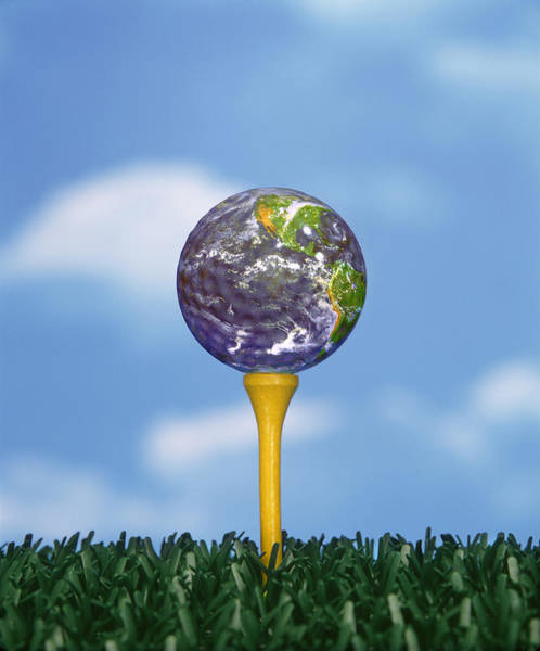 Golf Green Photograph - World Teed Up by Gerard Fritz