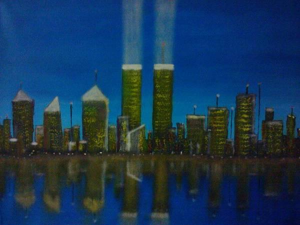 World War 11 Painting - World Trade Center by Jason Walburn