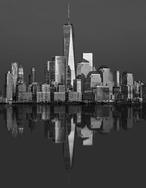Photograph - World Trade Center Reflections Bw by Susan Candelario