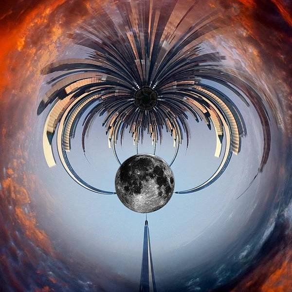 Skyline Wall Art - Photograph - World Trade Center Tiny Planet by Susan Candelario