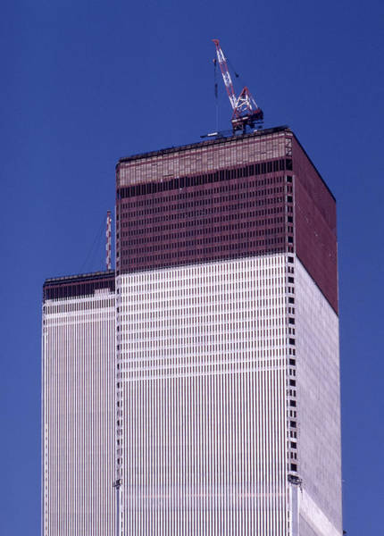 Photograph - World Trade Center Under Construction by Paul Ross