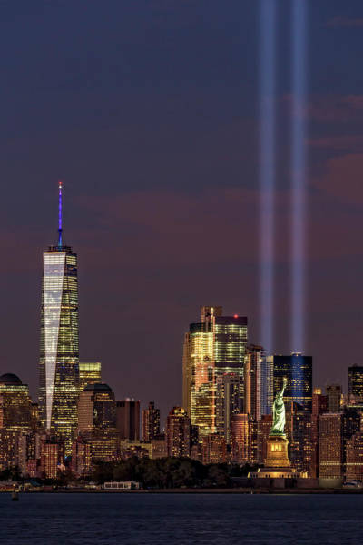 Wall Art - Photograph - World Trade Center Wtc Tribute In Light Memorial II by Susan Candelario