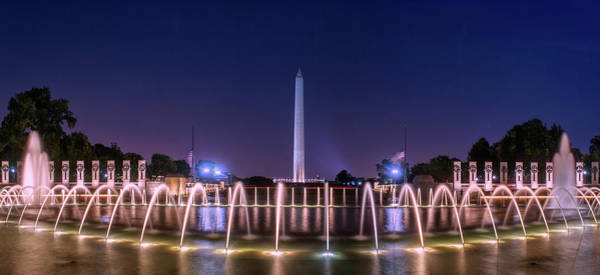 Photograph - World War 2 Memorial With Washington Monument by Rima Biswas