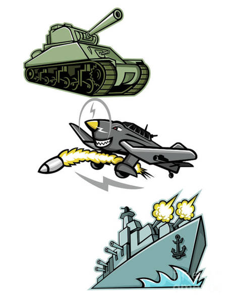 Junkers Digital Art - World War 2 Military Vehicles Mascot by Aloysius Patrimonio