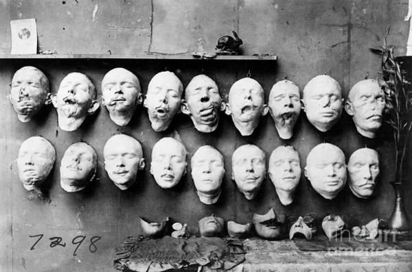 Photograph - World War I Masks, 1918 - To License For Professional Use Visit Granger.com by Granger