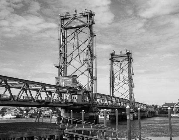 Photograph - World War I Memorial Bridge Portsmouth Nh Monochrome by Nancy De Flon
