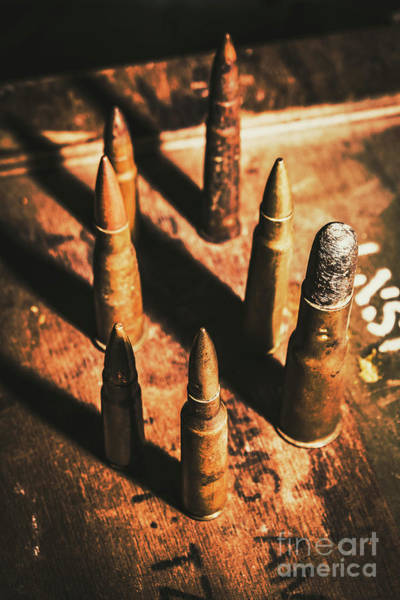Dirty Photograph - World War II Ammunition by Jorgo Photography - Wall Art Gallery