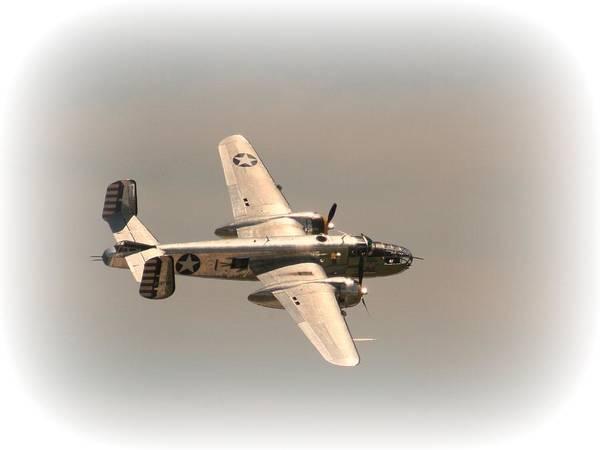 Photograph - World War II B25 Mitchell Bomber by David Dunham