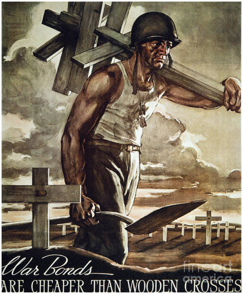 Photograph - World War II: Bond Poster by Granger