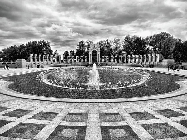 Photograph - World War II Memorial Fountain by Mark Miller