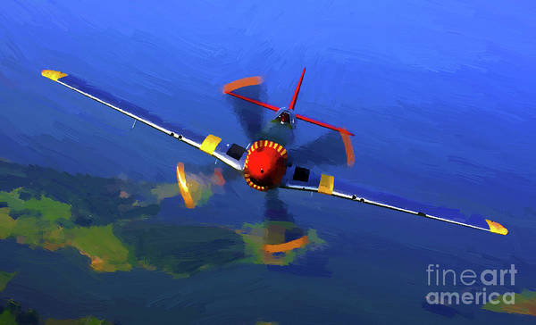 Mixed Media - World War II  Mustang by Jerry L Barrett